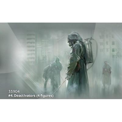 CHERNOBYL Nº4 DESACTIVADORES -1/32- ICM 35904