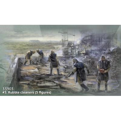 CHERNOBIL Nº3: LIMPIADORES DE ESCOMBROS -1/35- ICM 35903