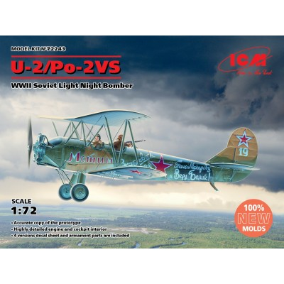 POLIKARPOV U-2 / Po-2 VS -1/72- ICM 72243