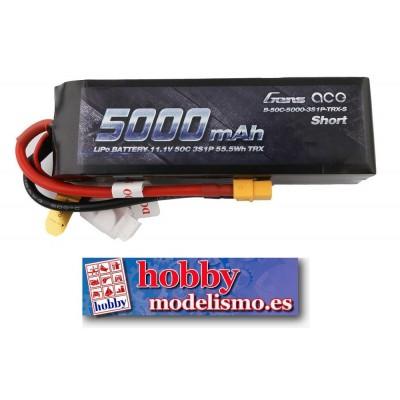 BATERIA LIPO 11.1V 5000MAH 50C CONECTOR XT60 GENS ACE B-50C-5000-3S1P-TRX-S
