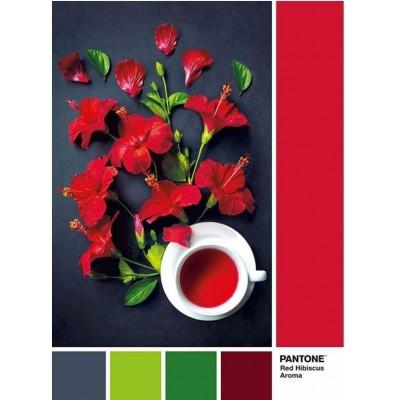 PUZZLE 1000 PZS PANTONE RED HIBISCUS AROMA - CLEMENTONI 39494