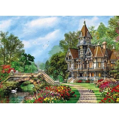 PUZZLE 500 pzs OLD WATERWAY COTTAGE (490 x 360 mm) - Clementoni 35048