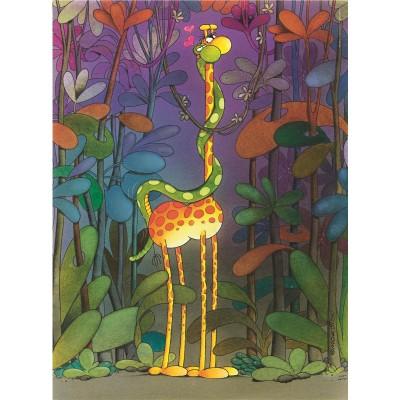 PUZZLE 500 pzs THE LOVER, Mordillo (490 x 360 mm) - Clementoni 35079