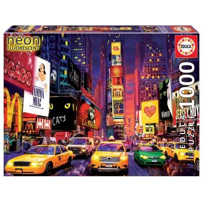 PUZZLE 1000 PZS NEON TIMES SQUARE NEW YORK - EDUCA 18499