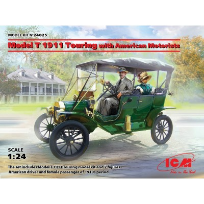 FORD T Mod. 1911 & CONDUCTORES -1/24- ICM 24025