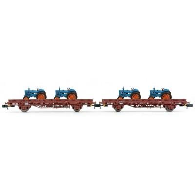 "VAGON PLATAFORMA Tipo Ks & TRACTORES ""EBRO"" (2 unidades) Ep. III-IV - Arnold HN6488"