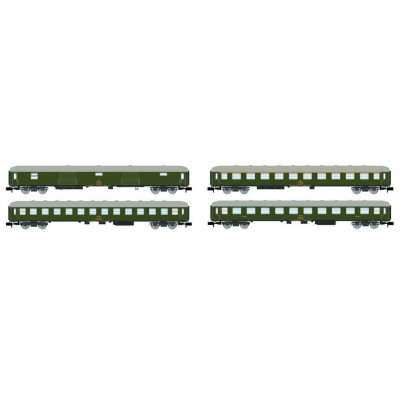 SET COCHES VIAJEROS Tipo 8000 (Verde) RENFE Ep. IV -N - 1/160- Arnold HN4295
