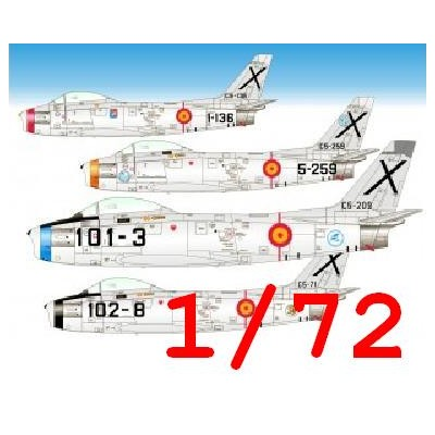 CALCAS NORTH AMERICAN F-86 F SABRE -Ejercito del Aire Español- 1/72 - Series Españolas SE672