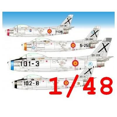 CALCAS NORTH AMERICAN F-86 F SABRE -Ejercito del Aire Español- 1/48 - Series Españolas SE648