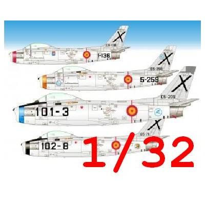 CALCAS NORTH AMERICAN F-86 F SABRE -Ejercito del Aire Español- 1/32 - Series Españolas SE632