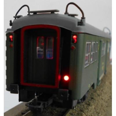 COCHE VIAJEROS Serie 7000 2ª clase (B-7004) & luz de cola - 1/87 - H0- KTrain 0601L