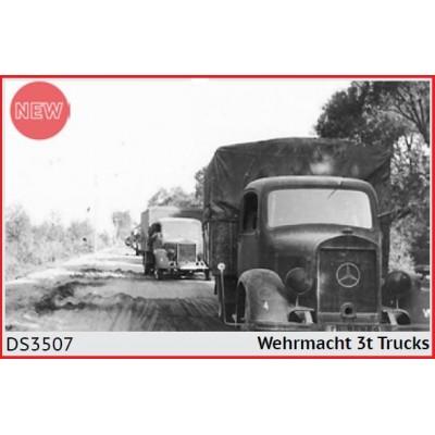 SET CAMIONES WEHRMACHT (3 unidades) -1/35- ICM DS3507