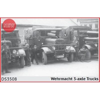 SET CAMIONES 3 EJES WEHRMACHT -1/35- ICM DS3508