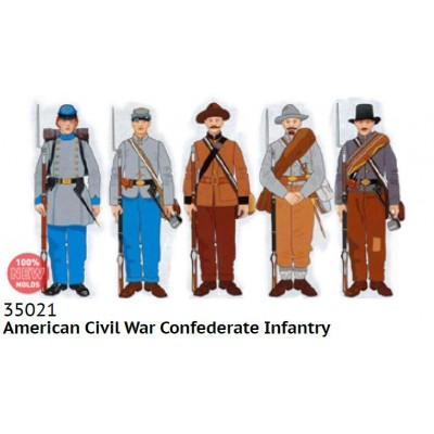 INFANTERIA CONFEDERADA (Guerra Civil Americana) -1/35- ICM 35021