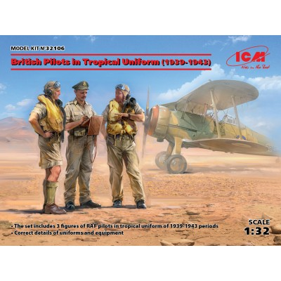 TRIPULANTES Royal Air Force UNIFORME TROPICAL -1/32- ICM 32106