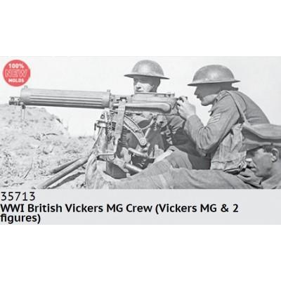 AMETRALLADORA VICKERS & DOTACION (1ª Guerra Mundial) -1/35- ICM 35713