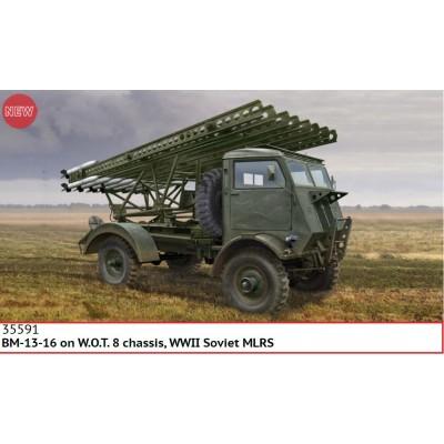 CAMION W.O.T. 8 & Sistema de cohetes BM-13-16 -1/35- ICM 35591