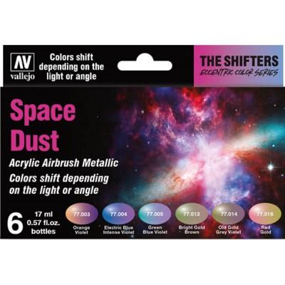 SET 6 COLORES SPACE DUST - ECCENTRIC METALIC COLOR SERIES VALLEJO 77091