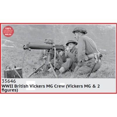 AMETRALLADORA VICKERS & DOTACION (Segunda Guerra Mundial) -1/35- ICM 35646