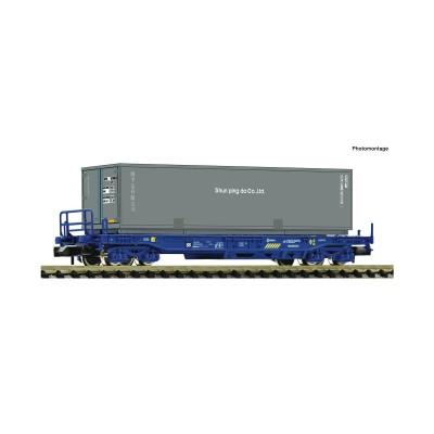 VAGON PLATAFORMA RENFE & CONTENEDOR -N - 1/160- Fleischmann 845375