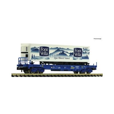 "VAGON PLATAFORMA RENFE & CONTENEDOR ""FONT VELLA"" -N - 1/160- Fleischmann 845374"