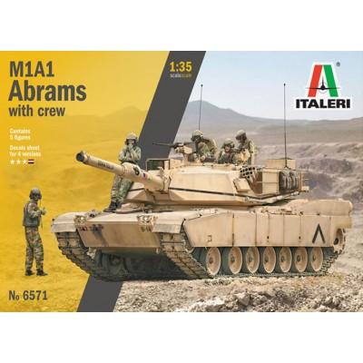 CARRO DE COMBATE M-1 A1 ABRAMS & TRIPULANTES -1/35- Italeri 6571