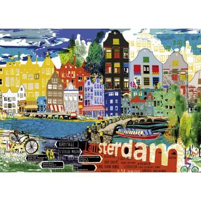 PUZZLE 1000 pzas I LOVE AMSTERDAM - Heye 29683