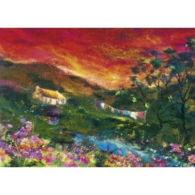 PUZZLE 1000 pzas FELTED ART WASHING LINE- Heye 29916