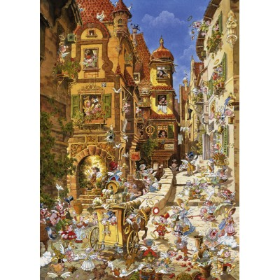 PUZZLE 1000 pzas BY DAY ROMANTIC TOWN- Heye 29874