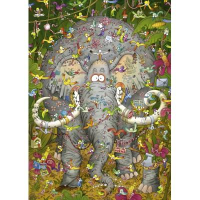 PUZZLE 1000 pzas DEGANO ELEPHANTS LIFE - Heye 29921