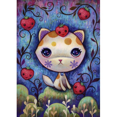 PUZZLE 1000 pzas DREAMING STRAWBERRY KITTY- Heye 29895