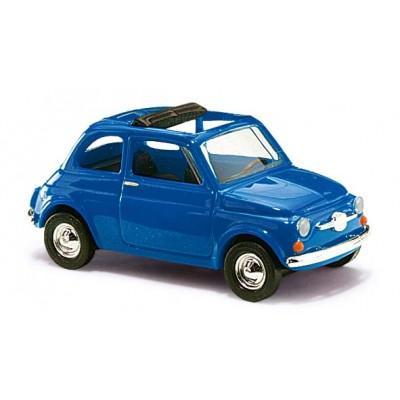 FIAT 500 AZUL . ESCALA H0 - BUSCH 48724