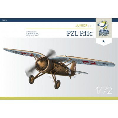 PZL P.11C ESCALA 1/72 JUNIOR SET - ARM HOBBY