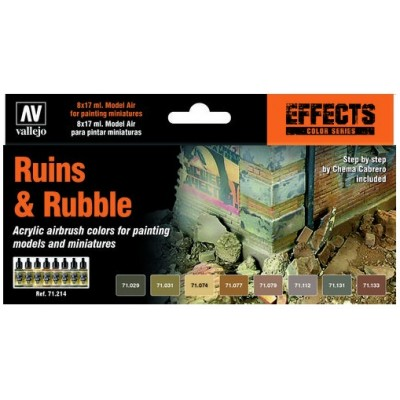 MODEL AIR SET: RUINS & RUBBLE (8 BOTES 17ml)