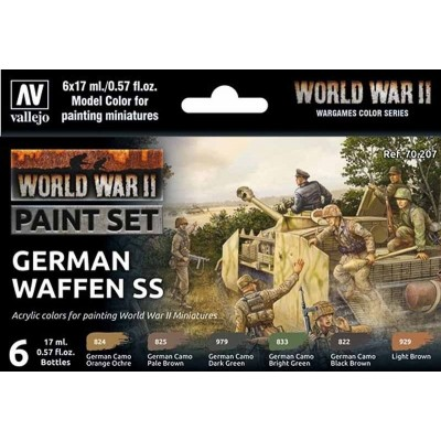 MODEL COLOR SET WWII GERMAN WAFFEN SS (6 BOTES 17ml)