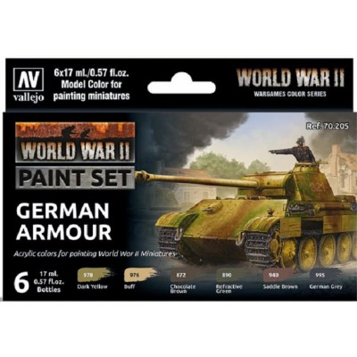 MODEL COLOR SET WWII GERMAN ARMOUR (6 BOTES 17ml)