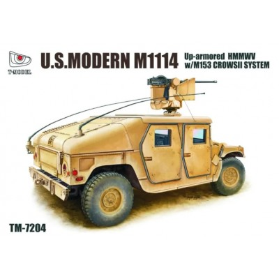 M1114 UP ARMOURED HMMWV CON SISTEMA CROWS II M153 - ESCALA 1/72 - TMODEL 7204