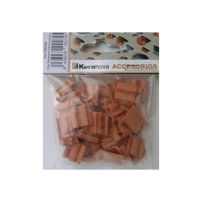 TEJA FLAMENCA (15X15x2mm) 50 UNIDS - KERANOVA 350160