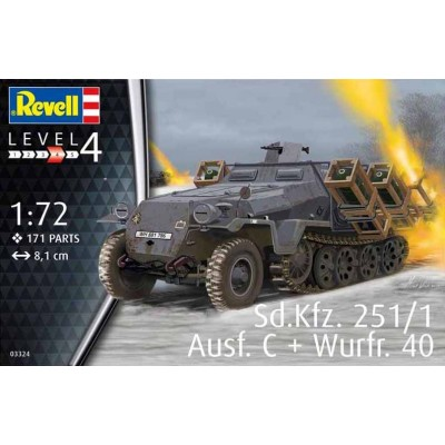 Sd.Kfz.251/1 Ausf.C CON LANZACOHETES Wurf.40 - ESCALA 1/72 - REVELL 03324