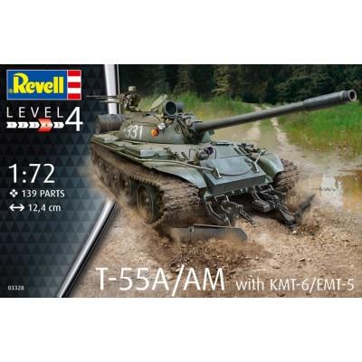 CARRO T-55A/AM CON SISTEMA Kmt-6/EMT-5 - ESCALA 1/72 - REVELL 03328