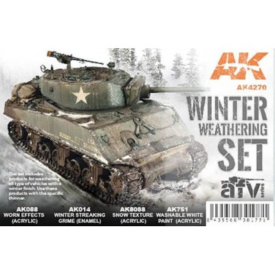 AFV series: WINTER WEATHERRING SET (4 botes) - AK Interactive AK4270