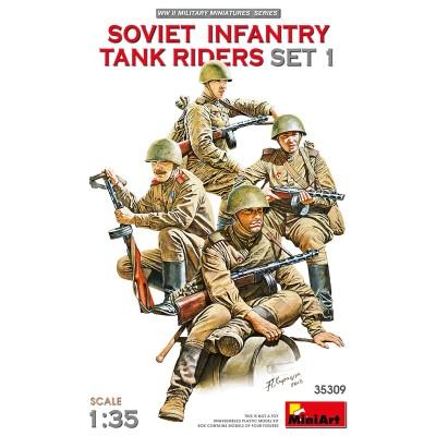 INFANTERIA SOVIETICA SOBRE CARRO, SET 1 -Escala 1/35- MiniArt 35309