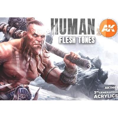 HUMAN FLESH TONES (6 botes) - AK Interactive AK11603