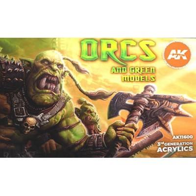 ORCS AND GREEN MODELS (6 botes) - AK Interactive AK11600