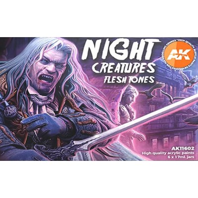 NIGHT CREATURE FLESHTONES (6 botes) - AK Interactive AK11602