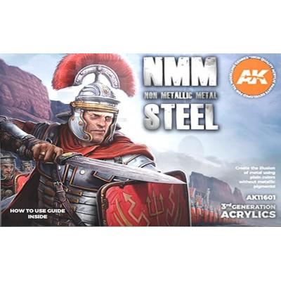NMM NON METALLIC METAL STEEL (6 botes) - AK Interactive AK11601