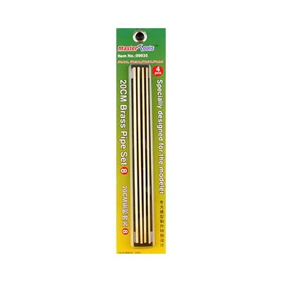 SET Nº 8 TUBO HUECO LATON 200 mm (2,1 x 1/ 2,3 x 1/ 2,5 x 1/ 2,8 x 1 mm) - Trumpeter Master Tools 09935