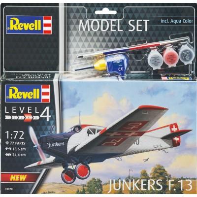 JUNKERS F.13 (Pegamento & Pinturas) -1/72- Revell 63870