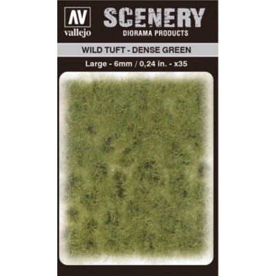 WILD TURF - DENSE GREEN (L: 6 mm x 35 unidades) - Acrylicos Vallejo SC413
