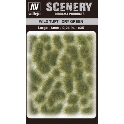 WILD TURF - DRY GREEN (L: 6 mm x 35 unidades) - Acrylicos Vallejo SC415
